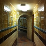 The tiled hallway